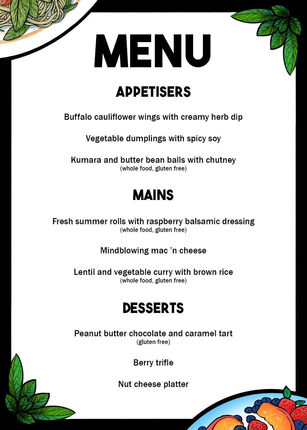 menu-for-vegan-fundraiser
