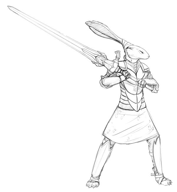 knight-hare-sketch